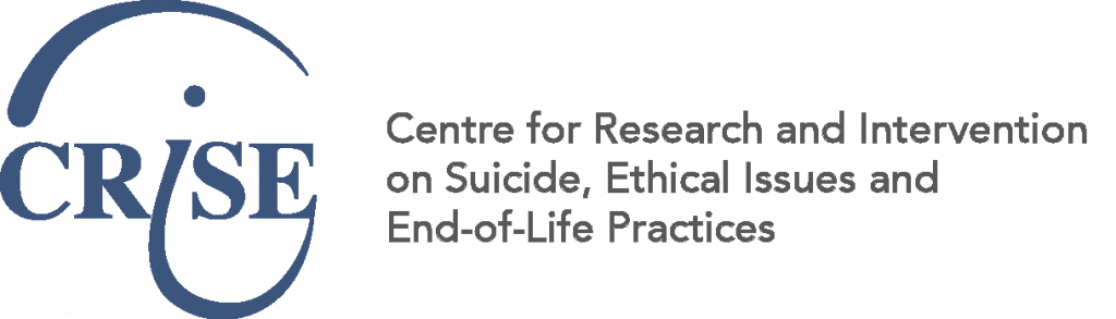 Logo centre for research and intervention on suicide ethical issues and end-of-life practices