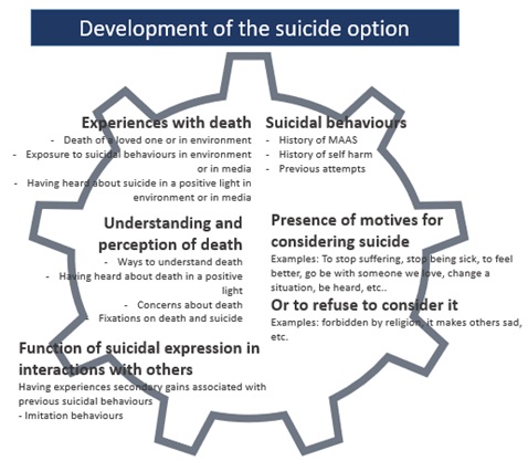 model of the development of suicide option in persons with intellectual disability of autism spectrum disorder